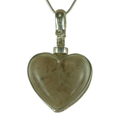 Heart Glass Locket Memorial Jewelry II