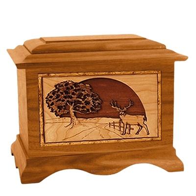 Heartland Deer Mahogany Cremation Urn