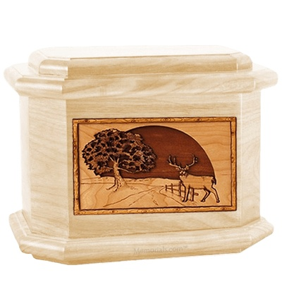 Heartland Deer Maple Octagon Cremation Urn