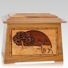 Heartland Deer Oak Aristocrat Cremation Urn