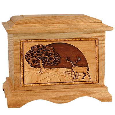Heartland Deer Oak Cremation Urn