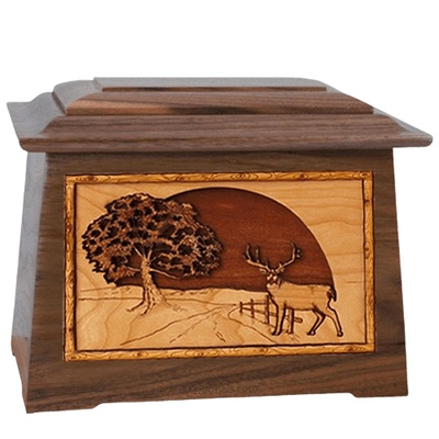 Heartland Deer Walnut Aristocrat Cremation Urn