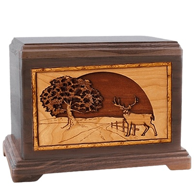 Heartland Deer Walnut Hampton Cremation Urn