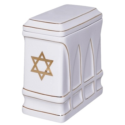 Hebrew Star Religious Cremation Urn