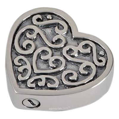 Henna Heart Cremation Pendant III