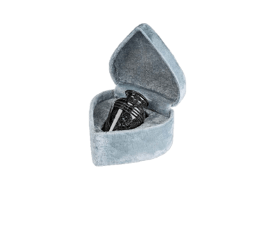 Hera Black Marble Keepsake Cremation Urn