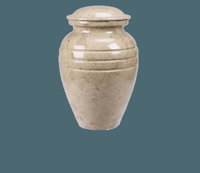 Hera Cream Marble Cremation Urn