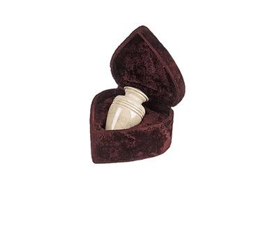 Hera Cream Marble Keepsake Cremation Urn