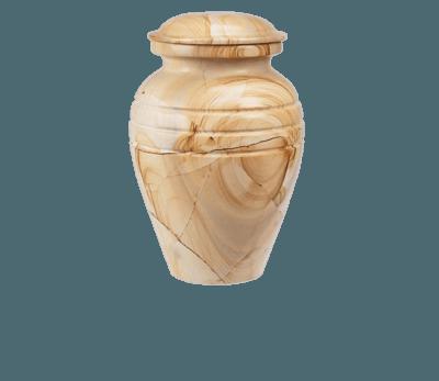 Hera Teak Marble Cremation Urn
