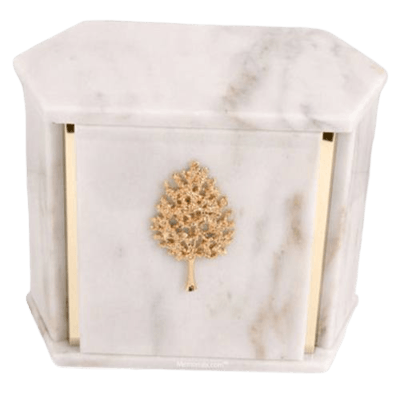 Hexagon White Danby Marble Companion Urn