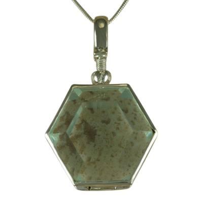 Hexagon Glass Locket Memorial Jewelry II