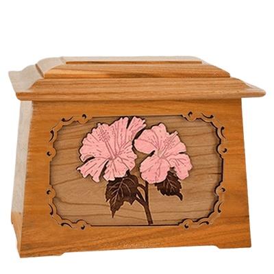 Hibiscus Mahogany Aristocrat Cremation Urn