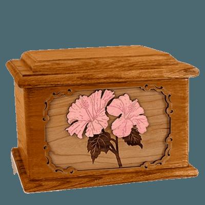 Hibiscus Mahogany Memory Chest Cremation Urn