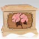 Hibiscus Maple Cremation Urn