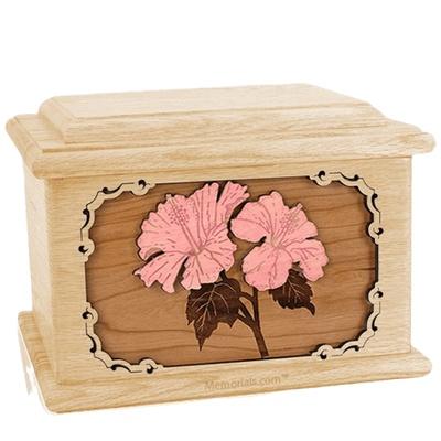 Hibiscus Maple Memory Chest Cremation Urn