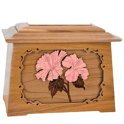 Hibiscus Oak Aristocrat Cremation Urn