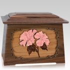 Hibiscus Walnut Aristocrat Cremation Urn