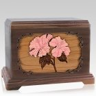 Hibiscus Walnut Companion Urn For Two