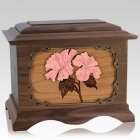 Hibiscus Wood Cremation Urns