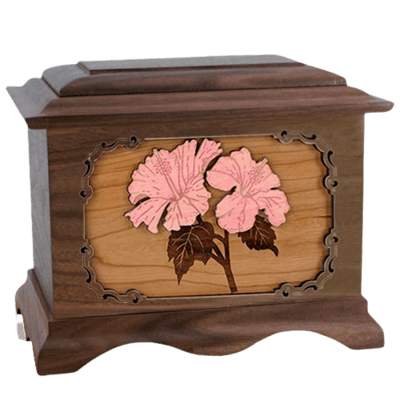 Hibiscus Wood Cremation Urns