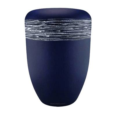 Himmel Blue Silver Biodegradable Urn