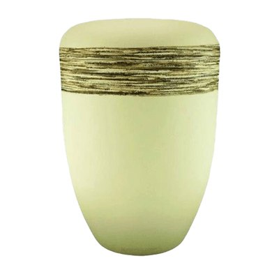 Fiber Cream Biodegradable Urn
