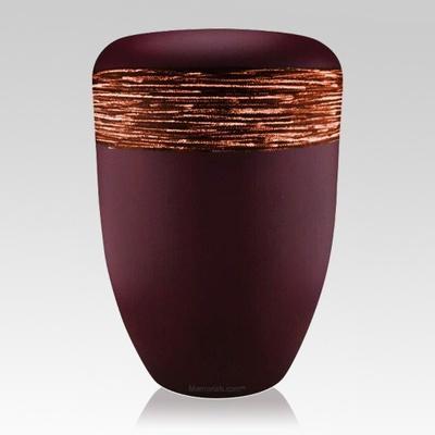 Weaved Orange Biodegradable Urn