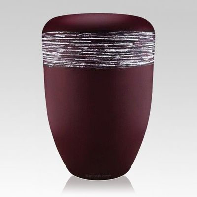 Weaved Silver Biodegradable Urn