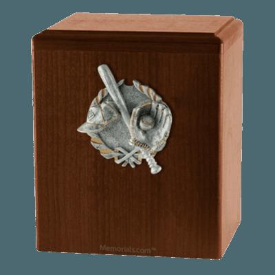 Home Run Walnut Cremation Urn