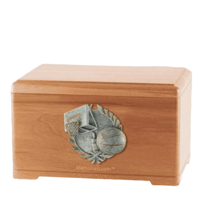 Hoops Fan Light Cherry Cremation Urn