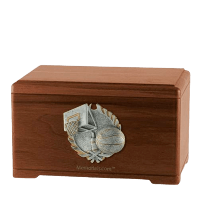 Hoops Fan Walnut Cremation Urn