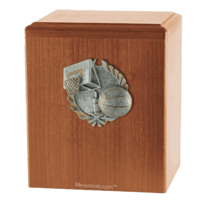 Hoops Light Cherry Cremation Urn