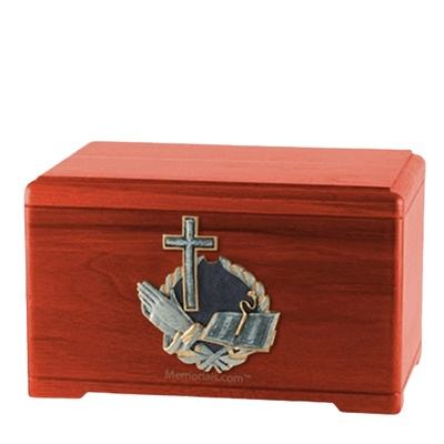 Hope Prayer Cherry Cremation Urn
