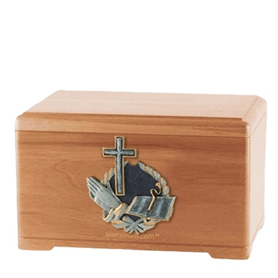 Hope Prayer Light Cherry Cremation Urn
