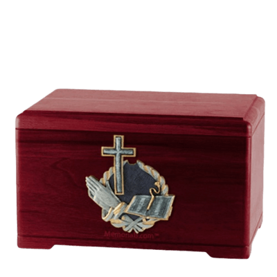 Praying Bible Rosewood Cremation Urn