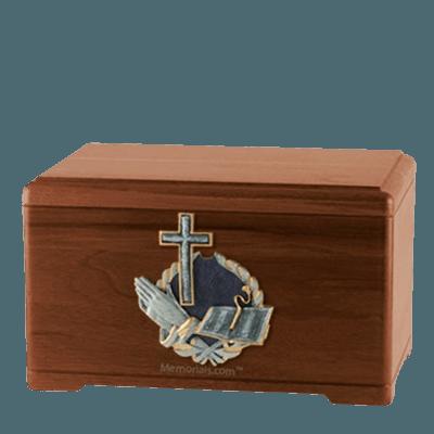 Hope Prayer Walnut Cremation Urn