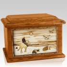 Horse Beach Mahogany Memory Chest Cremation Urn