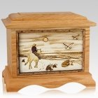 Horse Beach Oak Cremation Urn