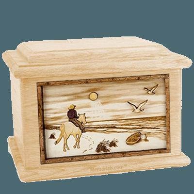 Horse Beach Maple Memory Chest Cremation Urn
