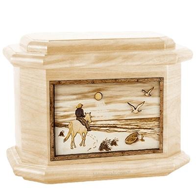 Horse Beach Maple Octagon Cremation Urn