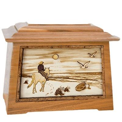 Horse Beach Oak Aristocrat Cremation Urn