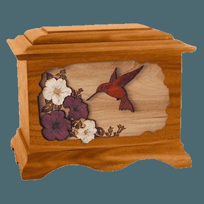 Hummingbird Mahogany Cremation Urn