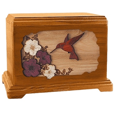 Hummingbird Mahogany Hampton Cremation Urn
