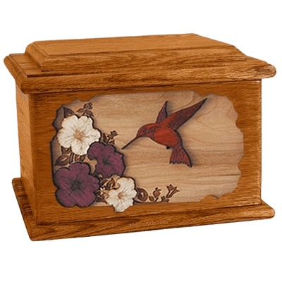 Hummingbird Mahogany Memory Chest Cremation Urn