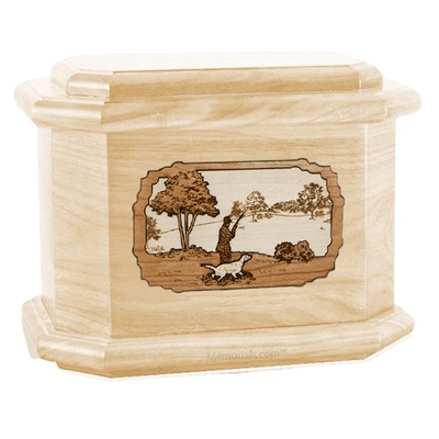 Hunter Maple Octagon Cremation Urn