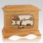 Hunter Oak Cremation Urn