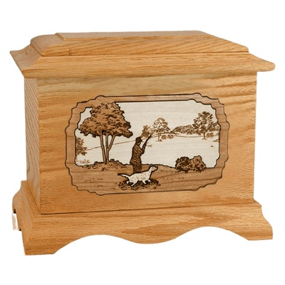 Hunter Oak Cremation Urn