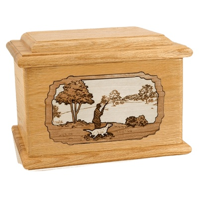 Hunter Oak Memory Chest Cremation Urn