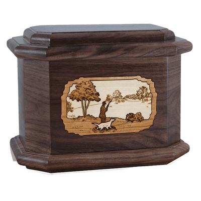 Hunter Walnut Octagon Cremation Urn