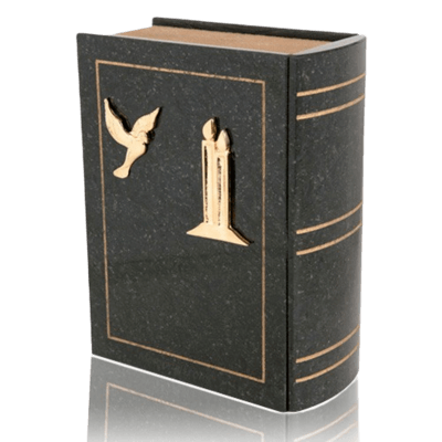 Immensita Black Book Granite Cremation Urn